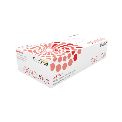 Rękawiczki nitrylowe bezpudrowe Unigloves Pearl op. 100 szt.