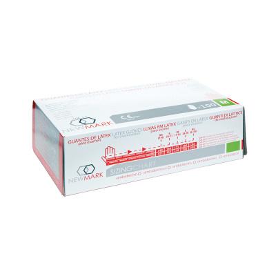 Rękawiczki lateksowe bezpudrowe Sanicen op. 100 szt. (produkt zograniczeniem ilościowym)