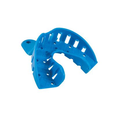 Łyżki wyciskowe plastikowe perforowane dobezzębia częściowego 1 szt.