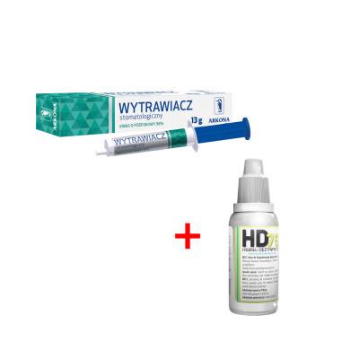 Promocja Wytrawiacz stomatologiczny 10 ml Arkona  + kieszonkowy płyn dodezynfekcji rąk HD75 Arkona 1 szt. za1 PLN