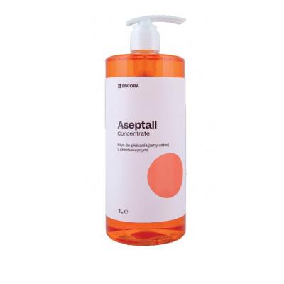 Aseptall Concentrate płyn dopłukania jamy ustnej zchlorheksydyną 0,12% 1 L