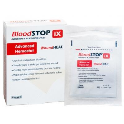 BloodStop iX1.3 x 5 cm wchłanialny opatrunek hemostatyczny 24 szt. Lifescience Plus