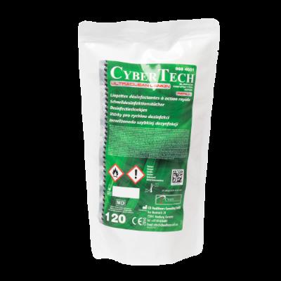 Chusteczki dezynfekcyjne Cybertech Ultra Clean Wipes uzupełnienie 120 sztuk lemon 9884681 Cybertech