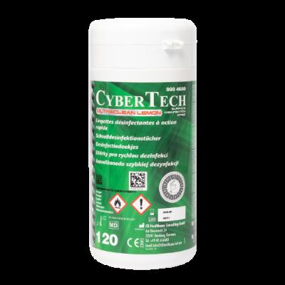 Chusteczki dezynfekcyjne Cybertech Ultra Clean Wipes 120 sztuk lemon 9884680 Cybertech
