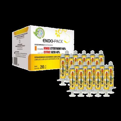 Strzykawki Endo-Pack doKwasu Cytrynowego 40 % 20 szt. Cerkamed