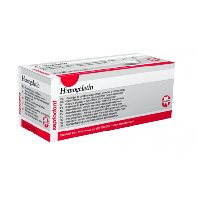 Hemogelatin -24 sztuki sterylnych gąbek żelatynowych (pochodzenia wieprzowego) Septodont