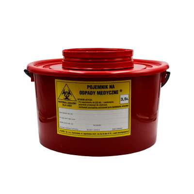 Pojemnik naodpady medyczne okrągły 3.5 L Zarys