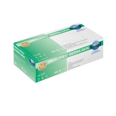 Rękawiczki lateksowe bezpudrowe Unigloves Derma Skin op. 100 szt. (produkt zograniczeniem ilościowym)