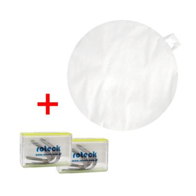 2 x Paski tłoczone doformówki Roteck + wkłady dospluwaczki białe 50 szt.