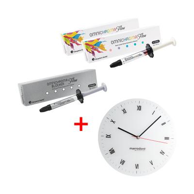 Promocja 2 x Omnichroma Flow 3 g + 1 x Omnichroma Flow Blocker 3 g + zegar za1 PLN