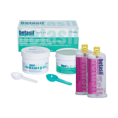 Betasil ® Vario Putty Soft Intro Kit (2 x 300 ml + 2 x 50 ml) Müller-Omicron