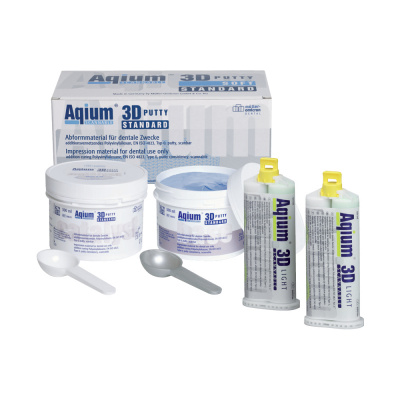 Aqium ® 3D Putty Soft Intro Set (2 x 300 ml + 2 x 50 ml) Müller-Omicron