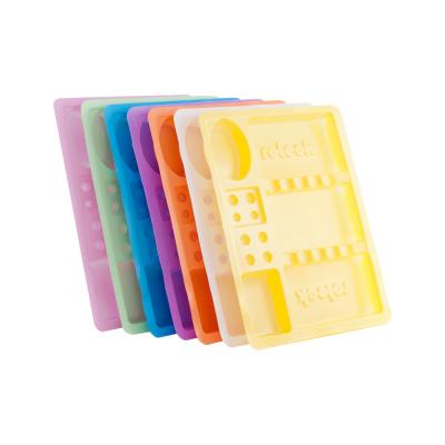 Tacki plastikowe jednorazowe kolorowe 100 szt.