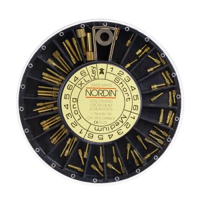 Pozłacane wkłady koronowo-korzeniowe zestaw 1-6 60 szt. Nordin