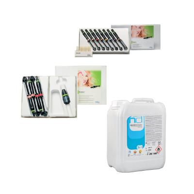 Evetric Assortment 8x3.5g Ivoclar + Evetric System Kit 4x3.5g Ivoclar + Novozid Forte 5L (tropikalny) Novodenta